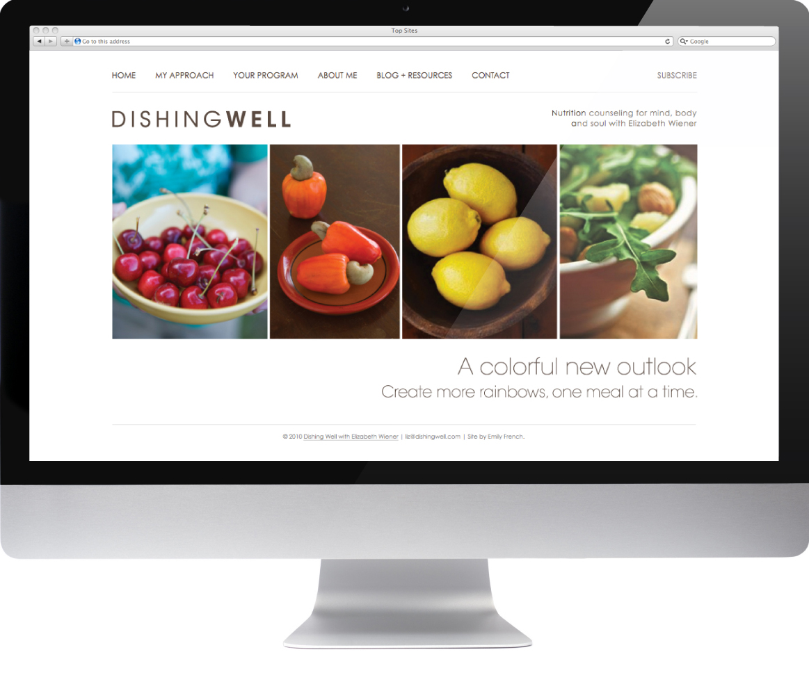 Artz Collective site design by Emily French for Dishing Well