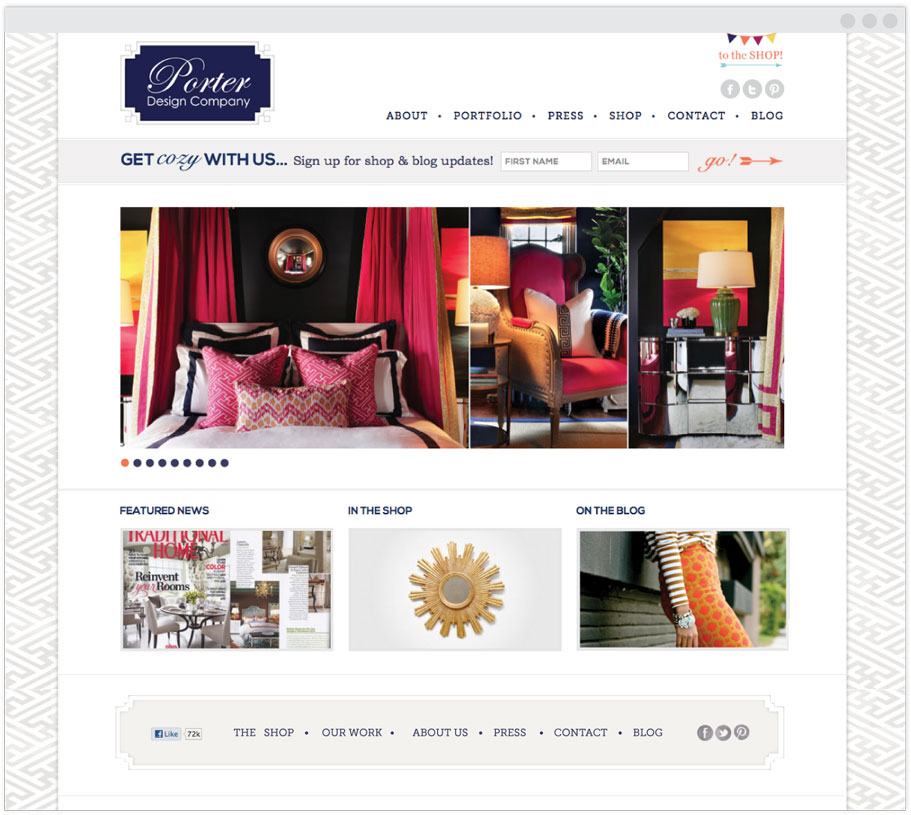 Porter Design Company Portfolio page